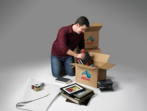 man doing packaging